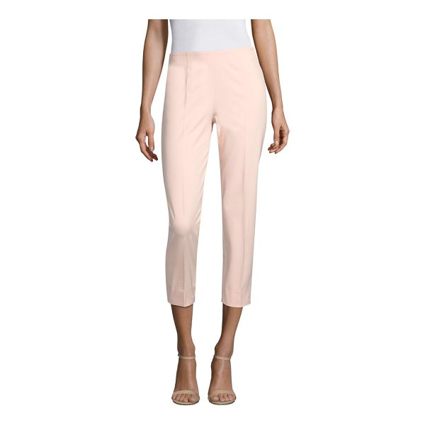PIAZZA SEMPIONE cropped cotton-blend pants - Cropped cotton pants with notched hems. Concealed zip...