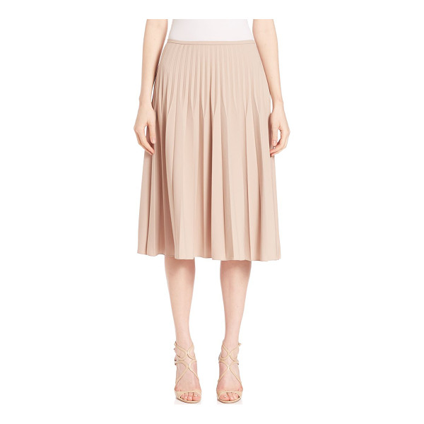 PIAZZA SEMPIONE pleated wool-blend skirt - Chic wool-blend skirt, with allover pleats. Banded waist....