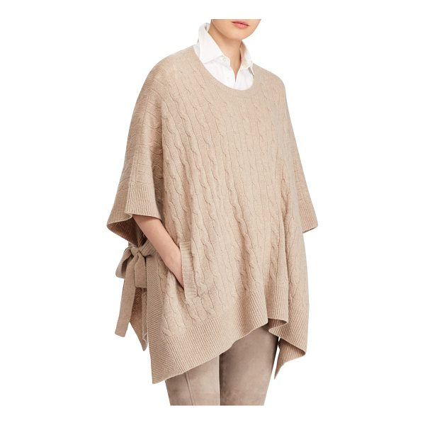 POLO RALPH LAUREN cable-knit sweater - The effortless drape of a poncho sweater meets an Italian...