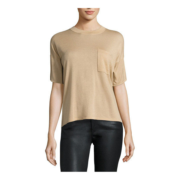 POLO RALPH LAUREN cashmere pocket tee - Featherweight cashmere puts a luxe spin on the must-have...