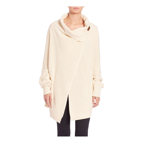 POLO RALPH LAUREN Cotton wrap cardigan - This long, chunky ribbed knit is styled for ease with a...