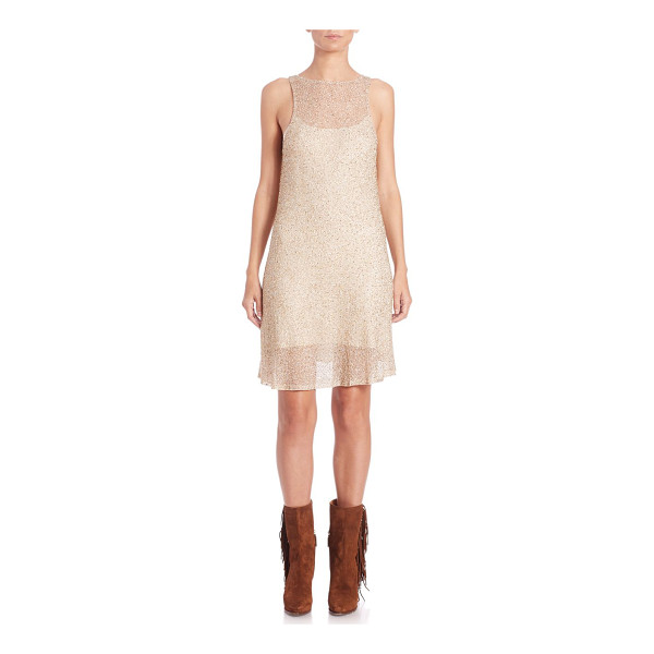 POLO RALPH LAUREN Embellished tulle sleeveless dress - Beaded, fete-ready tulle designHigh illusion...