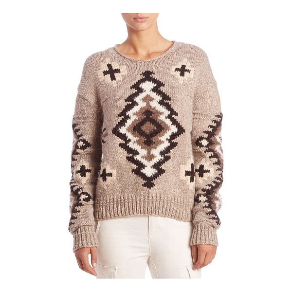 POLO RALPH LAUREN Printed knit sweater - Geometric motif patterns oversized essentialRounded...