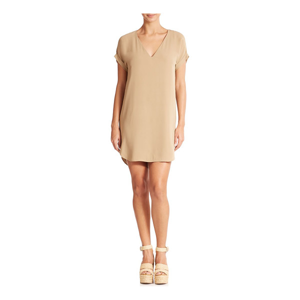 POLO RALPH LAUREN Silk v-neck dress - The epitome of relaxed luxury, this versatile silk dress...