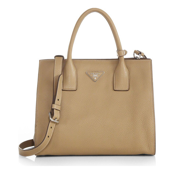 PRADA Daino twin-pocket tote - A timeless classic, this luxurious pebbled-leather design...