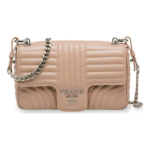 PRADA large quilted shoulder bag - Chic crossbody with refined quilting and chain strap. Chain...