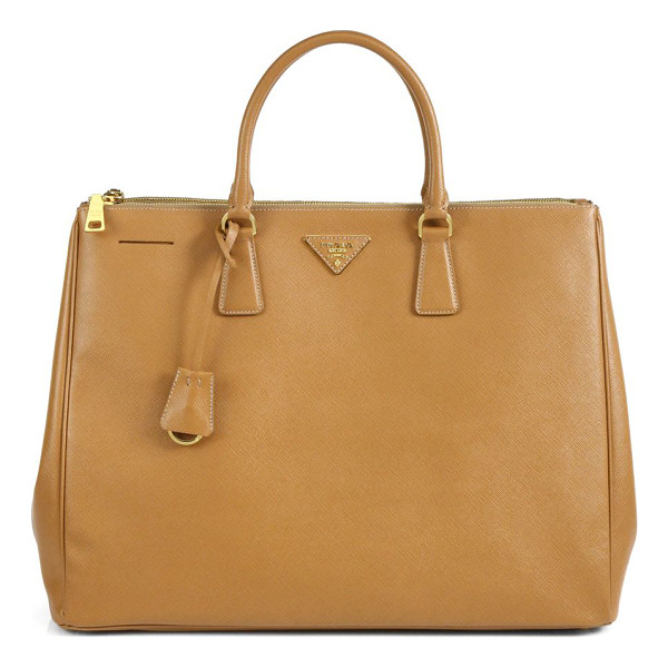 PRADA Large saffiano top-handle bag - Sumptuous saffiano leather in a top-handle carryall with...