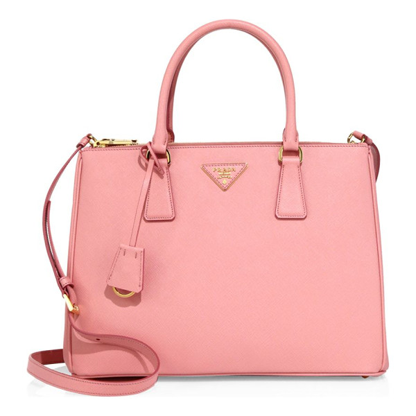 PRADA medium saffiano leather tote - Sophisticated structured tote in polished saffiano leather.