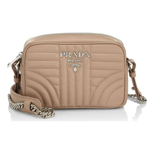PRADA nero quilted crossbody bag - Compact quilted bag with crossbody chain detail. Removable...