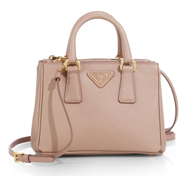 PRADA saffiano lux mini satchel - Crafted from beautifully textured Saffiano leather in a...