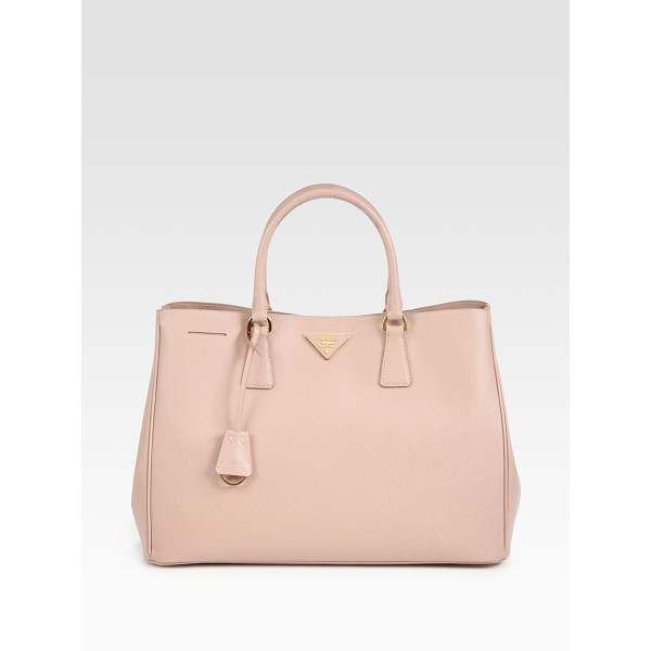 PRADA Saffiano lux tote - This classic shape in soft, stamped leather has radiant...