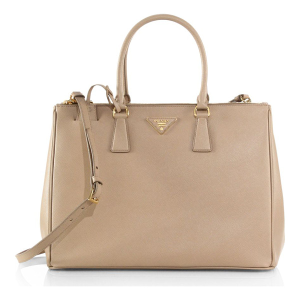 PRADA large double-zip saffiano leather tote - A roomy design in luxurious Saffiano leather with a...