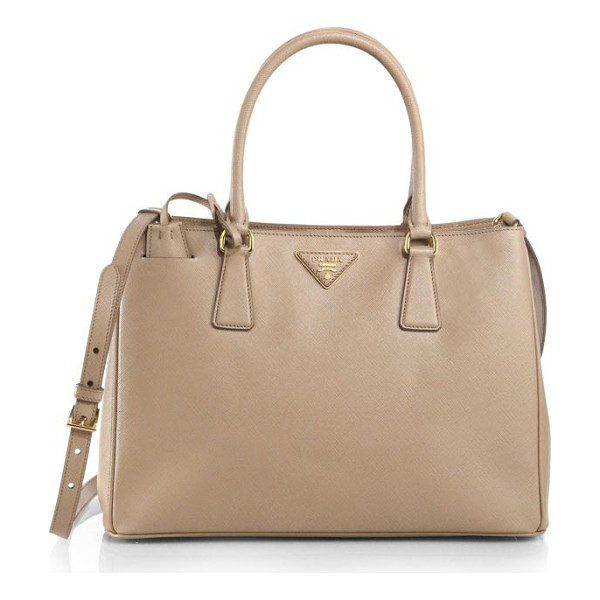 PRADA saffiano medium double zip top-handle bag - A roomy design in luxurious Saffiano leather with a...