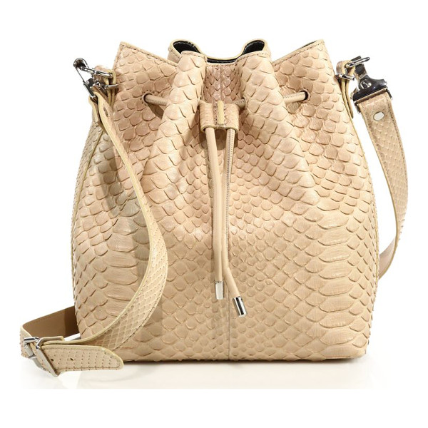 PROENZA SCHOULER medium python bucket bag - Cinched silhouette cast in luxe python. Removable,...