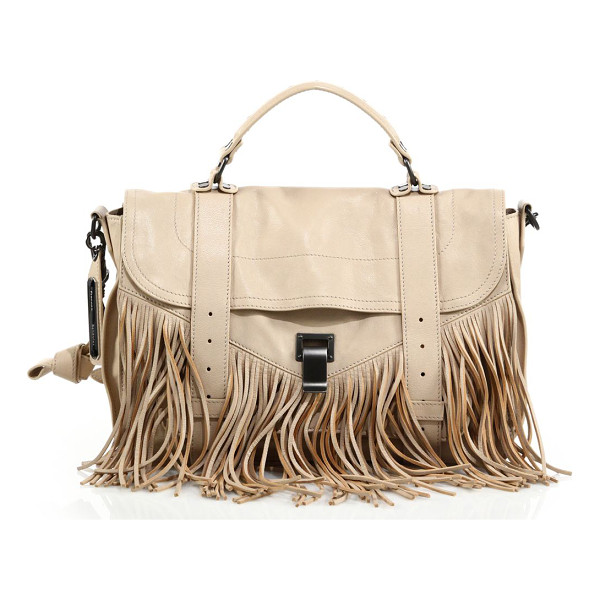 PROENZA SCHOULER Ps1 medium fringe satchel - The classic PS1 with Bohemian appeal: soft cascading fringe...