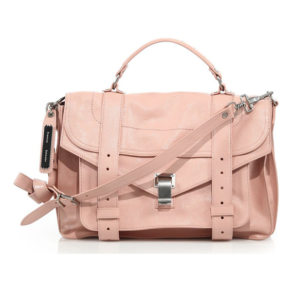 PROENZA SCHOULER Ps1 medium leather satchel - An iconic silhouette, with elevated messenger details. Top...