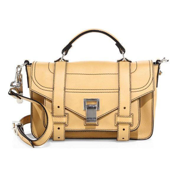 PROENZA SCHOULER ps1+ tiny leather satchel - Topstitched leather satchel secured with signature straps....