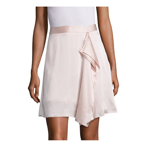 PUBLIC SCHOOL gina draped silk skirt - Light-as-air silk skirt with artfully draped front. Banded...