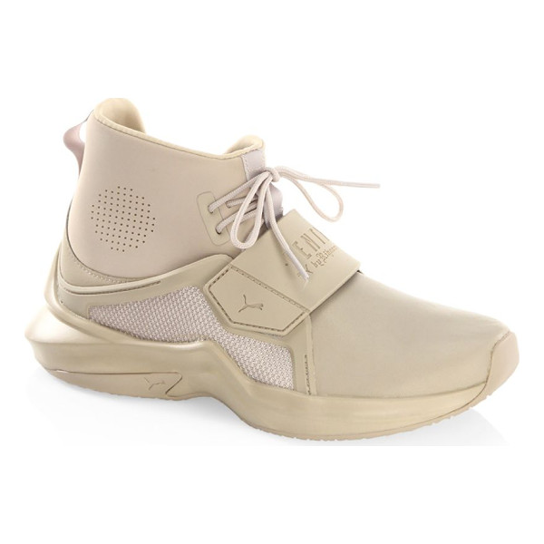 PUMA fenty by rihanna hi-top trainer sneakers - From the FENTY by Rihanna Collection. Monochromatic hi-top...