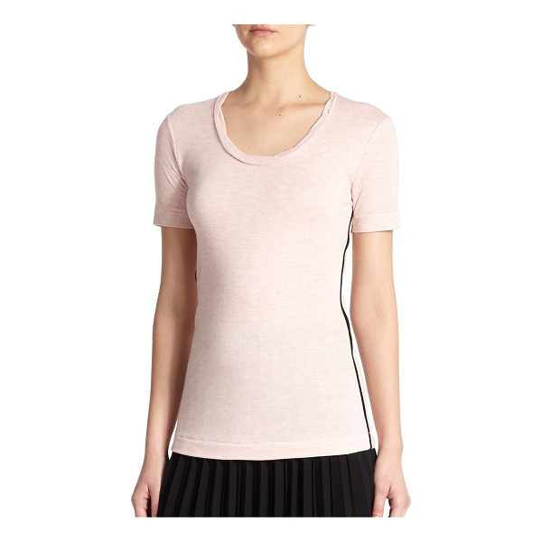 RAG & BONE Andrea contrast-trimmed tee - Binding trim adds a subtle modern element to this classic,...