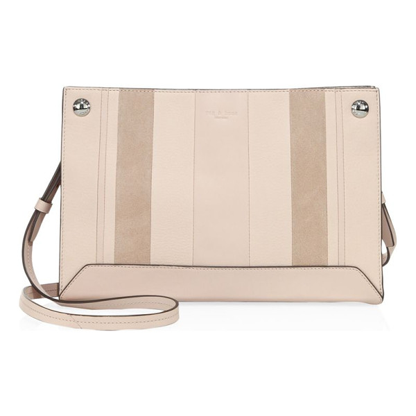 RAG & BONE compass leather crossbody bag - Paneled crossbody bag in a rectangular silhouette.