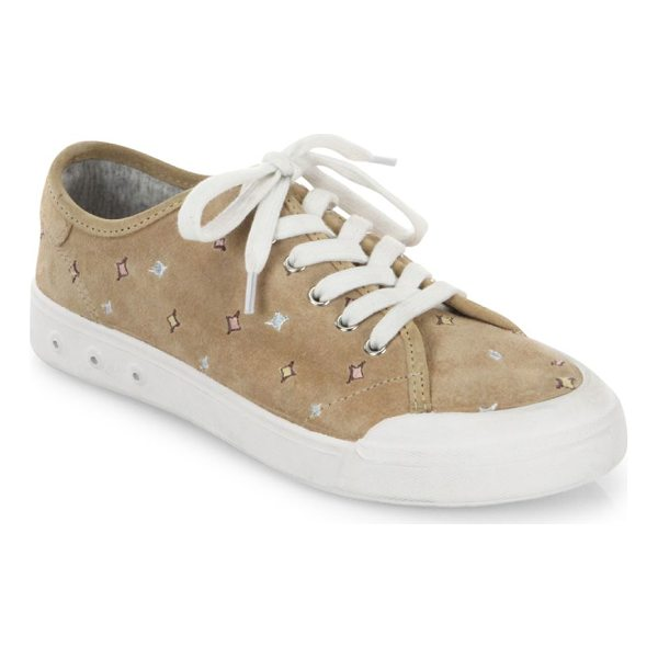 RAG & BONE embroidered suede sneakers - On-trend sneakers updated with embroidered details. Suede...