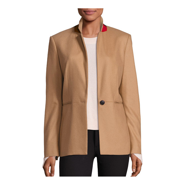 RAG & BONE emmet contrast collar blazer - Contrast collar adds subtle pop of color to blazer. Notched...
