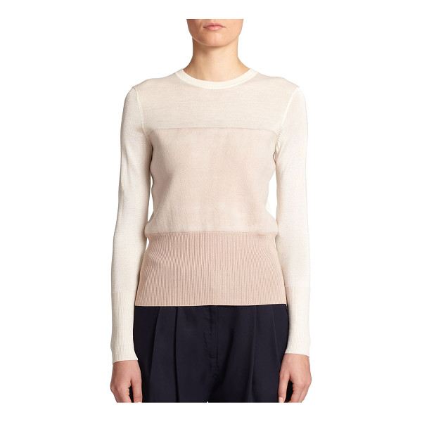 RAG & BONE Marissa colorblock knit top - Monochromatic colorblocking imparts modern polish to this...