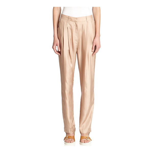 RAG & BONE Sally pleated silk pants - A lustrous silk finish lends a touch of effortless luxury...