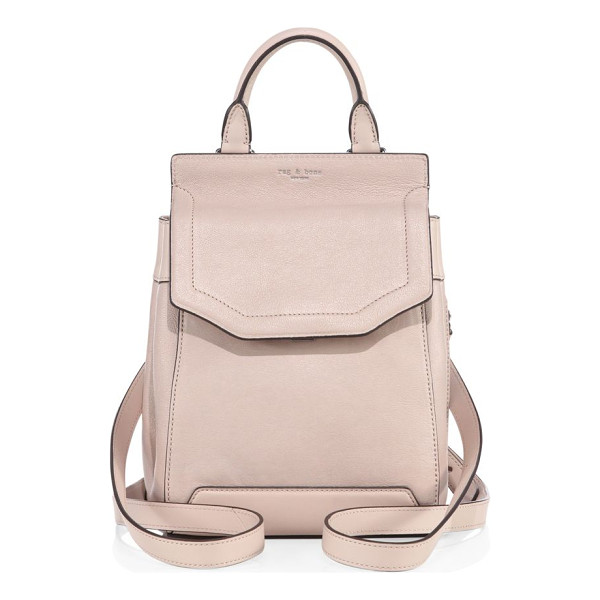RAG & BONE small pilot ii leather mini backpack - Mini backpack with expandable side snap accents. Top...