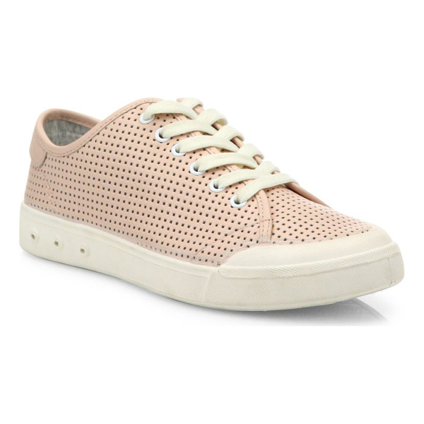 RAG & BONE standard issue perforated leather sneakers - Perforated leather updates classic low-top sneaker. Rubber...
