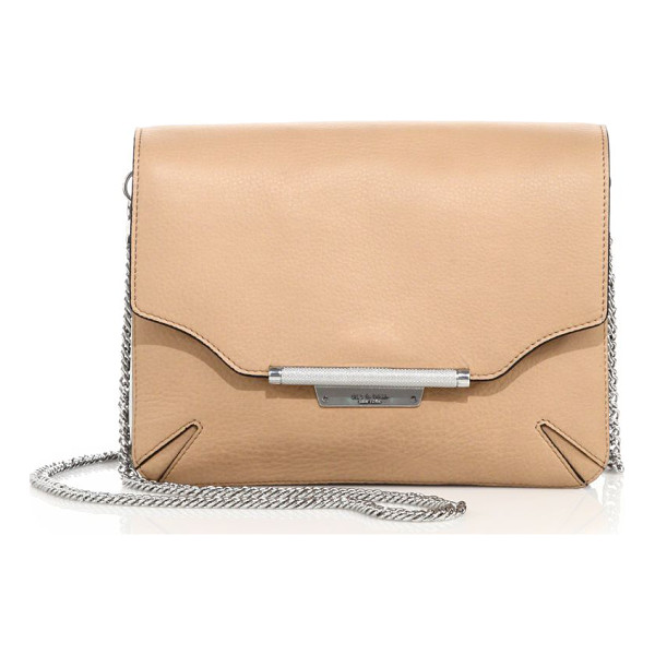 RAG & BONE leather moto clutch - Smooth leather convertible clutch withaccordioned interior....