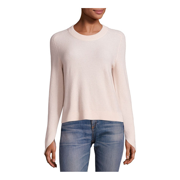 RAG & BONE valentina cashmere cropped top - EXCLUSIVELY AT SAKS FIFTH AVENUE. Rib-knit sweater in...
