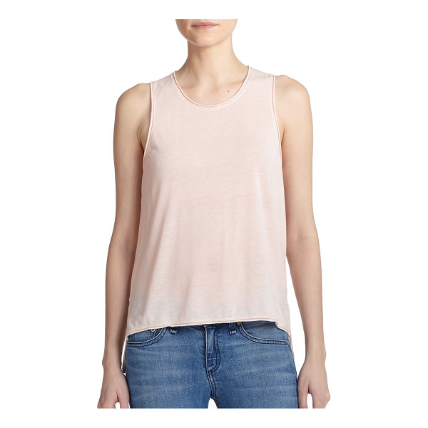 RAG & BONE Hollins tank top - Raw edges lend a hint of edge to this casual favorite...