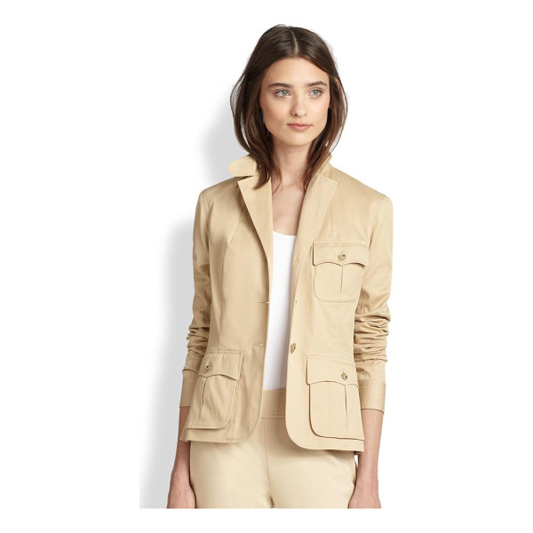 RALPH LAUREN BLACK LABEL Black label alicia stretch cotton jacket - An impeccably tailored jacket in wearable stretch cotton is...