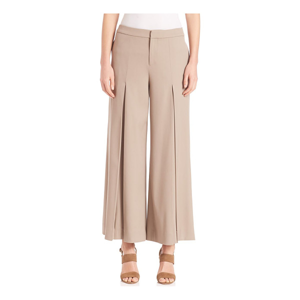 RALPH LAUREN COLLECTION beatriz pants - Stretch wool in an of-the-moment cropped silhouette. Banded...