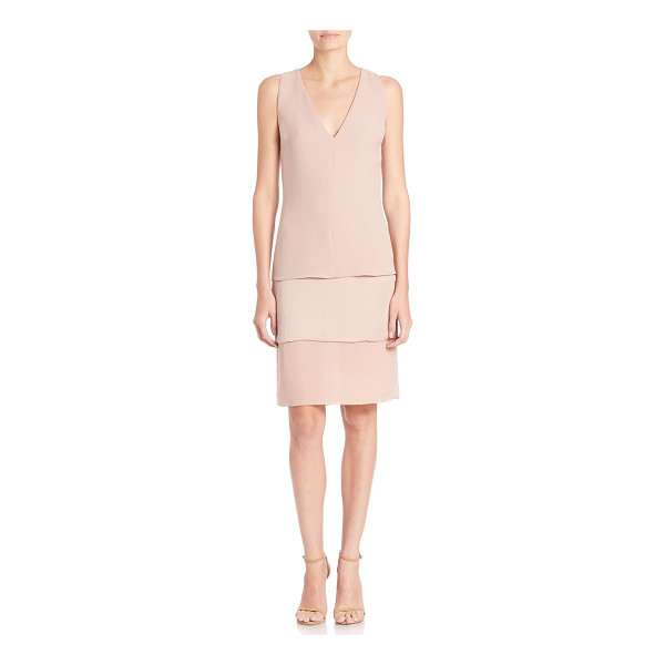 RALPH LAUREN COLLECTION belinda silk dress - Airy, layered silk in a timeless, easy silhouette.V-neck....