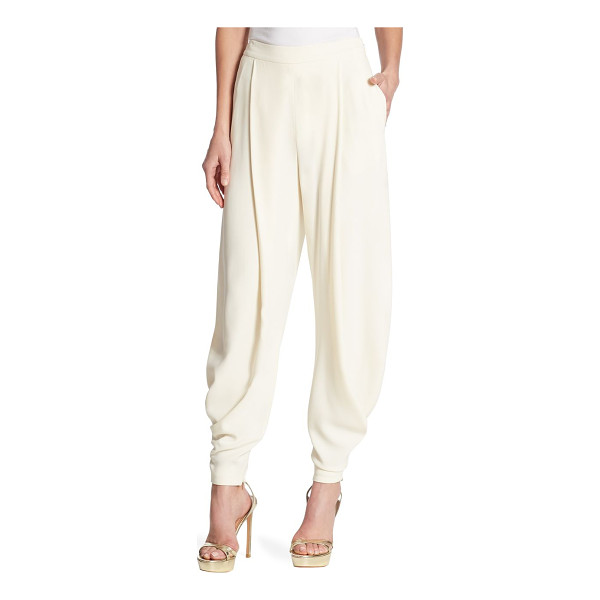 RALPH LAUREN COLLECTION kersten solid pants - Fitted cuffs detail these timeless solid pants. Concealed...