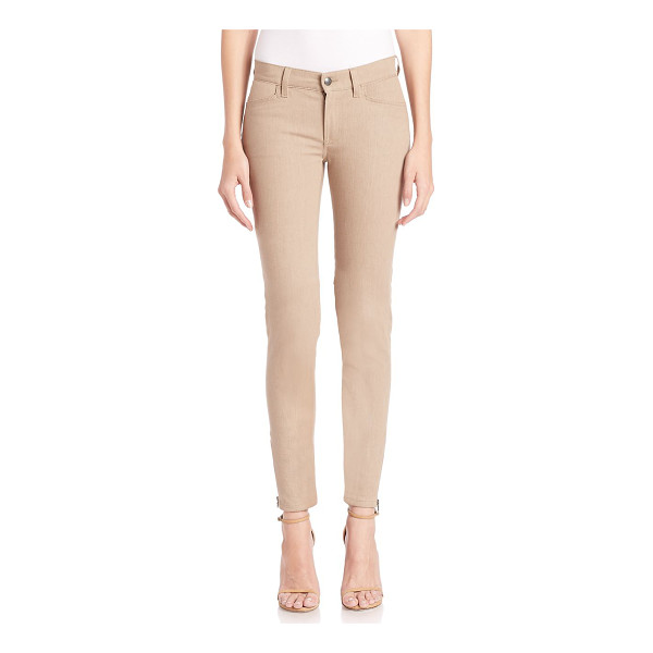 RALPH LAUREN COLLECTION matchstick skinny pants - Edgy hardware updates skinny wardrobe essential. Belt...