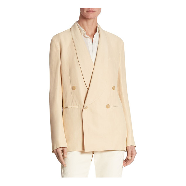 RALPH LAUREN COLLECTION nelson double-breasted jacket - Double-breasted jacket cut from a linen blend. Shawl...