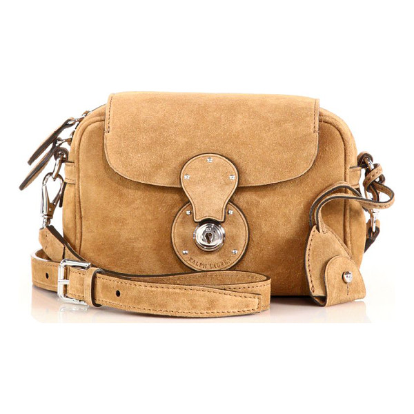 RALPH LAUREN COLLECTION Ricky small suede zip crossbody bag - In a rustic-meets-refined style so signature to Ralph...