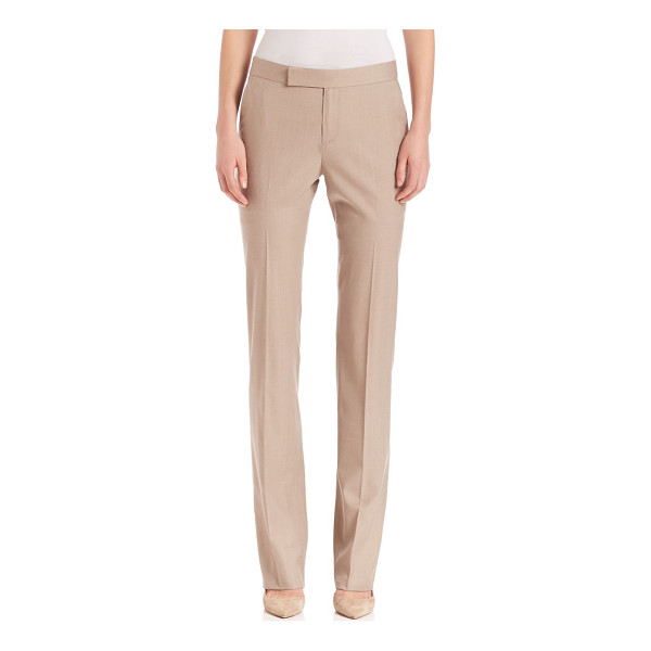 RALPH LAUREN COLLECTION seth wool pants - Timeless wool trousers, with polished tailoring. Zip fly...