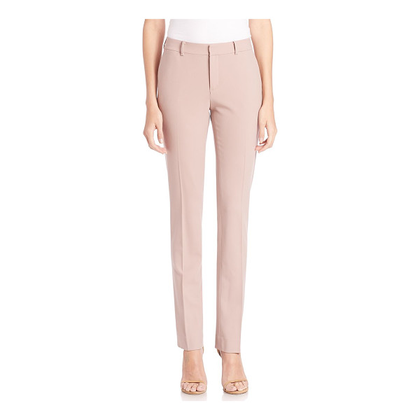 RALPH LAUREN COLLECTION sydney stretch wool pants - Slim-fit pair tailored in Italian stretch wool. Belt loops....