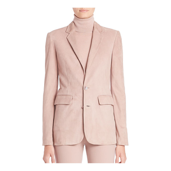 RALPH LAUREN COLLECTION yvette suede blazer - Refined, tailored blazer, reimagined in soft suede. Notch...