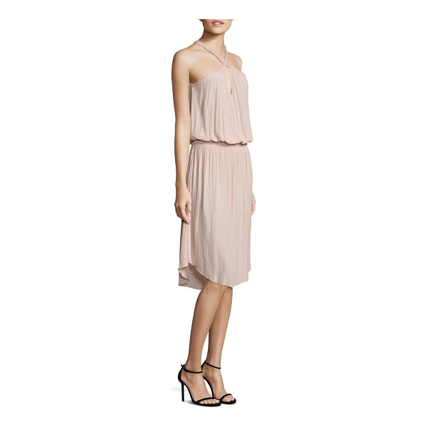 RAMY BROOK caroline halter midi dress - Blouson dress upgraded with rope detailed neckline....