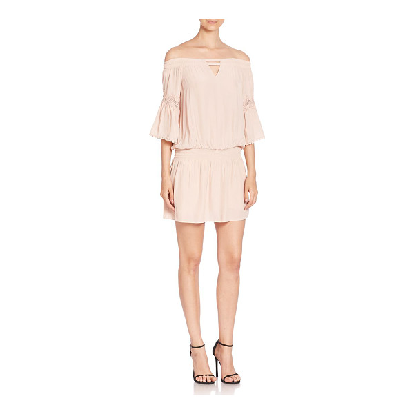 RAMY BROOK nicci off-the-shoulder dress - Cutout details and pom pom trims style this dress....