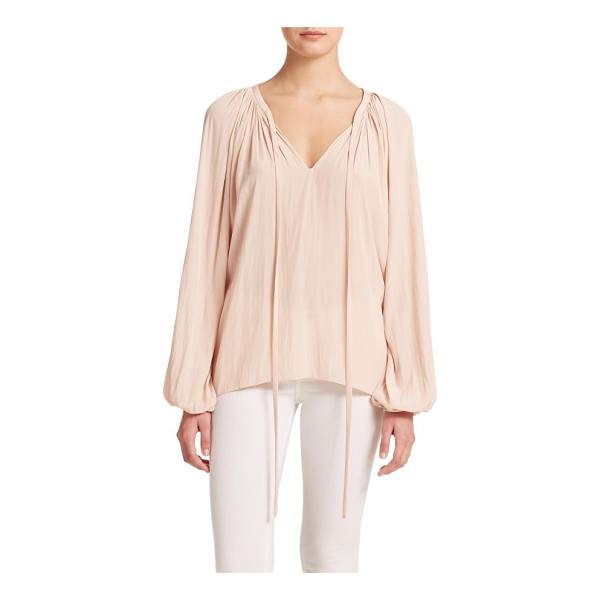 RAMY BROOK paris v-neck shirred blouse - Soft pleating blouse on a silky relaxed silhouette.V-neck....