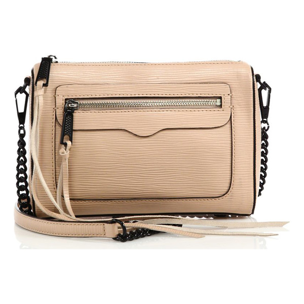 REBECCA MINKOFF Avery embossed leather crossbody bag - Compact day-to-night crossbody with embossed...