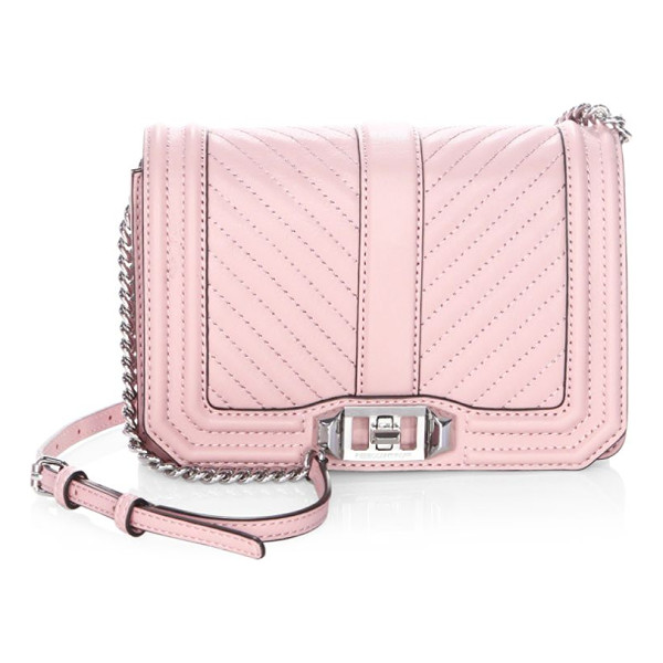 REBECCA MINKOFF chevron quilted leather crossbody bag - Polished buckle detailed with small logo lettering....