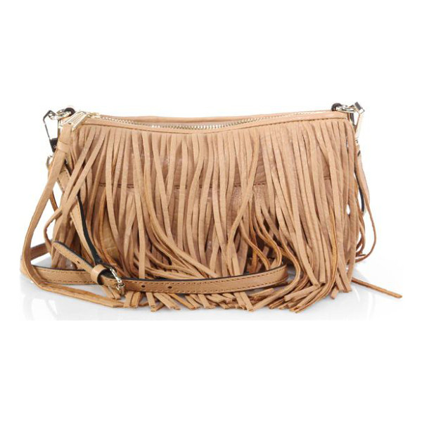 REBECCA MINKOFF Finn fringed convertible crossbody bag - Adorned with cascading fringe and equipped with an optional...